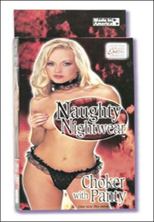 Naughty Nightwear Choker w/ Panty