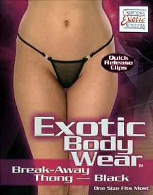 Exotic Body Wear Break-Away Thong (Black) ( 4073-03-3 )