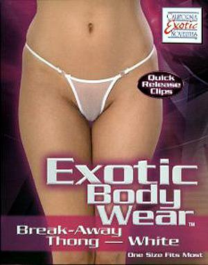 Exotic Body Wear Break-Away Thong (White) ( 4073-22-3 )